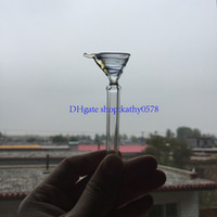 Wholesale Metal Stems - Glass Stem Slider Funnel Style With Handle Manufacture cheap Glass Male Stem ,simple downstem for water pipe ,glass bong free shipping