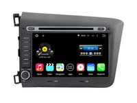 Wholesale Honda Civic Car Dvd Player - Quad Core Android 5.1 6.0 Car DVD GPS For CIVIC 2012 For Honda With Stereo Multimedia Radio Video Map Wifi BT