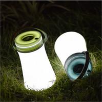 lumières à main rechargeables achat en gros de-Nouveau Portable USB Multifonction lumière d'urgence Extérieur Remise En Silicone Lampe Camping Tente LED Night Light Rechargeable lampe étanche
