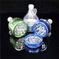 kräuter-trichter-metallschleifer großhandel-1 X Aluminiumlegierung Metall Trichter Grinder 2,2