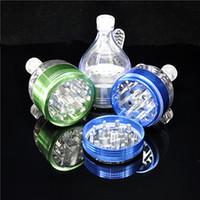 ingrosso smerigliatrice a mano per spezie-1 X Lega di alluminio in metallo grinder imbuto 2.2