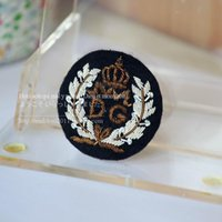Wholesale Chinese Ol - D G the British Royal uniform badge wire handmade embroidery OL suit all-match badge 5cm