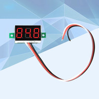 voltmetre led toptan satış-EN IYI Araba Voltmetre DC 0-100 V Taşınabilir Dijital Voltmetre Işık Kırmızı LED Panel Araba Gerilim Metre Araba aksesuarları
