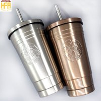 Wholesale Vacuum Yellow - 500Ml Stainless Steel Water Bottle Vacuum Bottle Double Layer Coffee Cup With Lids Creative Style Coffee Mugs 2 Colors Wholesale