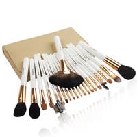 Wholesale Professional 22 Pcs Makeup Brush - Zoreya Quality Bridal Make up Brushes Professional 22 Pcs Blush Powder Makeup Brushes Set White Brush Kit Case