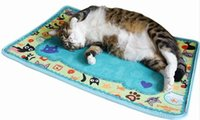 Wholesale Free House Furniture - 30PCS LOT FATCAT Toys Cat Mat House Bed Kitten Scratching Mat Furniture Dish Bowl Food Water Tray Clean Mats Free Shipping