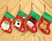 Wholesale decorations for boots - Christmas Decoration For Home Gift New Year Christmas Boot Decoration Ornaments Supplies