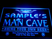 Wholesale Beer Neon Bar Signs - DZ003-b Name Personalized Man Cave Cowboys Bar Neon Beer Sign