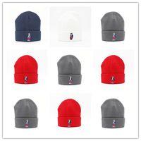 Wholesale Hat Designs For Women - New Design Fashion Cartoon Bear polo Beanie Street Hip Hop Beanie Winter Warm hat Knitted Wool Hats for Women Men gorro Bonnet Caps