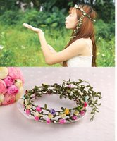 Stile Bohemian Carino margherita Copricapo Corona di fiori Corona Head Beach banda Corona Wedding Accessori Hairband
