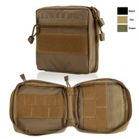 Wholesale tactical vest accessories - Outdoor Sports Tactical Backpack Vest Accessory Mag Magazine Holder Molle Pack Tactical Molle Kit Pouch NO11-708