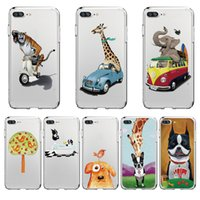 Cassa del telefono Cute Giraffe Cartoon Disegno TPU Custodia morbida per Iphone X 8 8PLUS 7 7PLUS 6 Samsung S8 S8plus S7edge