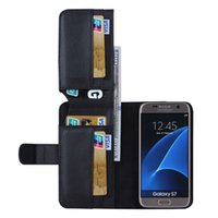 Wholesale Multifunctional Cases - For Samsung S7 Galaxy S7 edge Wallet Leather Case Multifunctional 7 Card Slot Flip Stand Photo Frame Phone Cover Shell