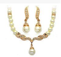 cheap statement jewelry sets NZ - Hot Sale Cheap New Styles Statement Necklaces Pearl Sets Bridesmaids Jewelry Lady Women's Prom Party Fashion Jewelry Earrings Christmas Gfit