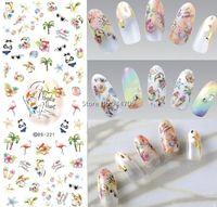 Wholesale fingernail wraps - Wholesale- DS221 DIY Nail Design Water Transfer Nails Art Sticker paradise resort Vacation Nail Wraps Sticker Watermark Fingernails Decals