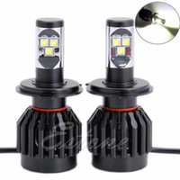 Vente en gros - Pour 2x 80W 9000LM H4 Car LED Headlight Kit Driving Lamp H / L Bulb All In One