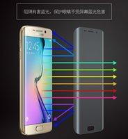 s6 kenarı paketi toptan satış-0.2 MM Galaxy S7 kenar S6 S7 Tam Ekran Koruyucu Temperli Cam S6 kenar Artı Kapak Tüm Ekran Eğrisi Ekran patlama Perakende Paketi