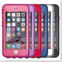Wholesale Dirt Proof Iphone Case - 2016 fre cell phone case Waterproof Case for iPhone 6s 6 4.7 inch High quality New fre Water Dirt Snow Proof protective case 20pcs by DHL