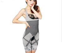 feste kontrolle voller körperformer großhandel-heißer natürlicher Bambus, der Körper-Klage-Former-feste Steuerung Anti-Cellulite-Unterwäsche-Ganzkörper-dünneres Shaperwear Taillentraining abnimmt