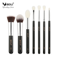 Beili 7pcs fond de teint liquide Highlight Ombre à paupières correcteur de cheveux de chèvre Petit pinceau de maquillage Set Make Up Tools for Makeup