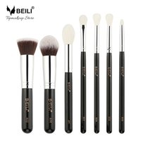 Wholesale highlight hair online - Beili Liquid Foundation Highlight Goat Synthetic Hair Eye Shadow Concealer Small Makeup Brush Set Make Up Tools for Makeup