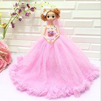 Wholesale Different Baby Dresses - 10PCS LOT 30CM Different Faces Wedding Evening Party Dress Clothes for Barbie Doll Dress wedding dress skirt Keychain