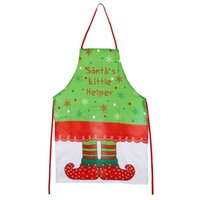Wholesale 2017 New Cu3 Printing Elf Girl Aprons Cute Sanitary Aprons Christmas Supplies Funny Novelty Sleeveless Apron