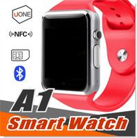 Wholesale Dial Silicone Watches - A1 Smart Watch Bluetooth DZ09 GT08 Smartwatch Support SIM TF Card Smart Wrist Watches With Silicone Strap with Retail Package