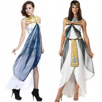 Wholesale Greek Goddess Costumes For Women - Queen Of the Nile Adult Egyptian Cleopatra Costume For Ladies's Fancy Costume Greek Goddess Halloween Costumes For Women W8897