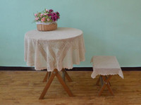 Round 100% Cotton Disposable Special Crochet Pattern Round Tablecloths,  Nice Crochet Table Cover Round