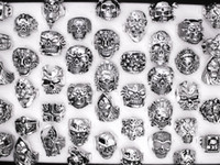 Wholesale punks rings for sale - Mixed Top quality Gothic Punk Assorted Skull Style Bikers Men s Vintage Tibetan Rings