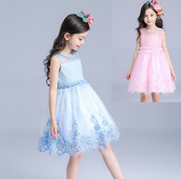 Wholesale Dress Girl For 12 Years - Wholesale Hot Sale Princess Wedding Dress Size For 3-12 Years Girl Party Dress 2015 Flower Girl Dresses Lace Embroidery Prom Gown Kids