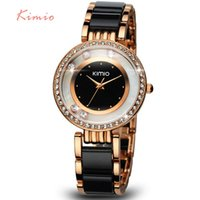 Fashion Women's Not Specified KIMIO Pearl Scale Crystal Diamond Rolling Bracelet Women's Watches Brand Luxury Fashion Ladies Watch Women Quartz-watch Clock