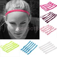 Wholesale Outdoor Fabric Dye - 10 Colors Fabric Outdoor Sports Headband Ski Tennis Headware Hair Accs Yoga Hair Ribbons for Women