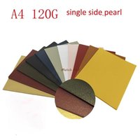 Wholesale Choose Paper - Wholesale- 100pcs lot A4 size 21*29.7cm 120gsm single surface Pearl paper white colors for choose, DIY box gift packing