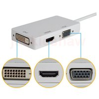 Mini Display Port DP MDP Per HDMI VGA DVI HD 1080P 3 in1 display Port convertitore di cavo adattatore per Apple Macbook Microsoft Surface