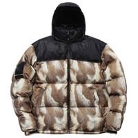 Wholesale Down Coats Winter Fur - 13FW SUP Down jacket Fur Print Nuptse Coats Couple coat Winter Outerwear Fashion S~XL HFYRF001