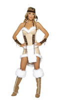 Wholesale Hot Sexy Santa - Wholesale-halloween costumes for women Hot Selling Native Indian Role-playing Disfraces fantasia High Quality & Sexy cosplay free shiping