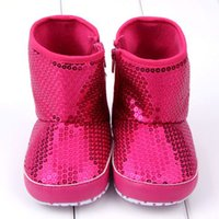 Wholesale Toddler High Fashion Boots - Wholesale-Baby Girls Boots Sequins Soft Bottom Anti Slip Toddler Shoes High Boots-5774