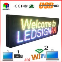 Wholesale wholesale clock supplies - P10 FULL COLOR LED SIGN 199X55CM CONTROL BY WIFI AND USB SUPPLY TEXTS, NUMBERS, DATES, CLOCK