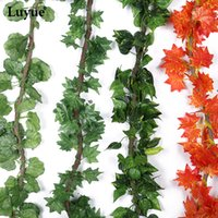 250Cm 5Pcs / Lot Feuilles Ivy Artificial Garland Simulation Plantes Vine Faux Feuilles Foliage Fleurs Wall Hanging Home Decor
