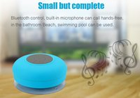 Wholesale china free phone calls for sale - Group buy Water Resistant BTS mini portable Shower Bluetooth Speaker with Sucker Support Hands free Calls Function for mobile phone