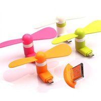 Wholesale Hot Protable Micro android mobile fan mini cellphone V8 TPE fan fan for samsung LG Huawei