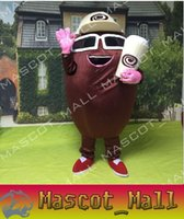 Wholesale Coffee Bean Halloween Costume - MALL312 Professional Customized Coffee Bean Mascot Costume Costumes Clothing Halloween Costume Chirstmas Party Adult Size Fancy Dress Cloth