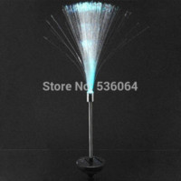 FIBER OPTIC COLOR CHANGE LED LED POWER STAKE LIGHT GARDEN LAMPADA ESTERNA PATH LAMP
