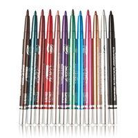 12 renk makyaj göz harı toptan satış-Yeni 12 Renk Eyeliner Kalem Göz Farı Kalem Göz Kalemi Sopa Kaş Kalemi Kozmetik Makyaj Seti maquiagem Ücretsiz Kargo