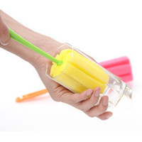Wholesale Glass Cup Brush - Kitchen Cleaning Tool Cup Brush Kitchen Cleaning Tool Sponge Brush For Wineglass Bottle Coffe Tea Glass Cup Mug Free Shipping