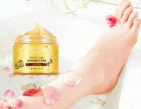 Wholesale Wholesale Foot Cream - BIOAQUA 24K GOLD Shea Buttermassage Cream Peeling Renewal Mask Baby Foot Skin Smooth Care Cream Exfoliating Foot Mask DHL free shipping