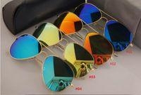 Wholesale Girls New Arrivals - New Arrival Glass lens Fashion Men Women Polit Sunglasses UV Protction Brand Designer Vintage Driving Sun glasses