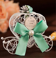 Wholesale Sweet Wedding Favours - 2017 Coach Carriage Wedding Favours Candy Chocolate Boxes Christmas Sweet Box Sugar Box Wedding Favor Box Decorations Gift Boxes